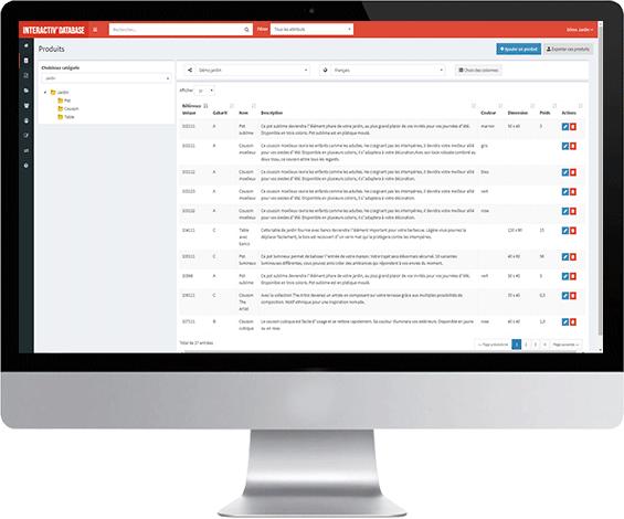 Interactiv' Database - Base de données produits