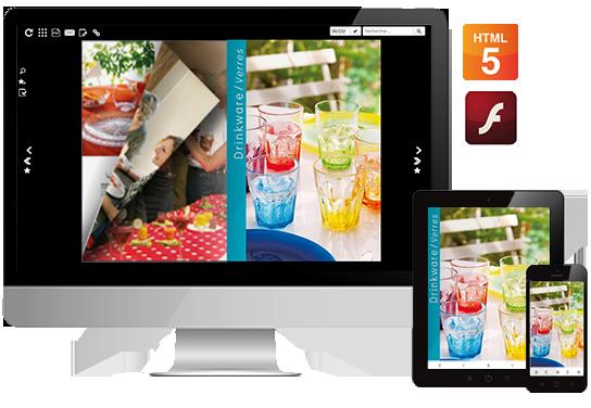 Le catalogue interactif pour les tablettes et l'iPad