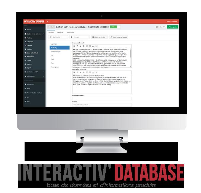 Découvrez notre solution PIM Interactiv' Database - Base de données produits